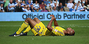 Chris O'Grady (Nottingham Forest striker) after winning a penalty for Forest during the Sky Bet Championship match between Queens Park Rangers and Nottingham Forest at the Loftus Road Stadium, London, England on 12 September 2015. Photo by Matthew Redman.