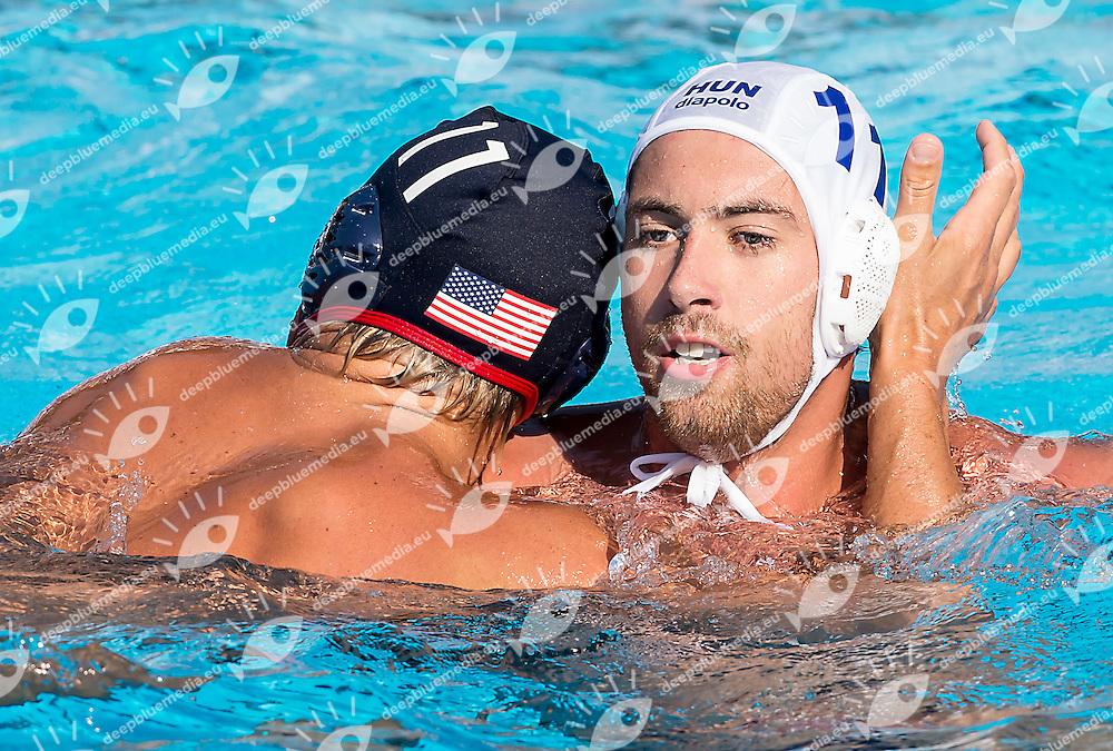 11 NEMET Toni HUN 11 SMITH Jesse USA<br /> Hungary HUN (white) - United States USA (blue)<br /> day 04 - 26/06/2015<br /> FINA Water Polo World League Superfinal Men<br /> Bergamo (ITA) 23-28 June 2015<br /> Photo G.Scala/Deepbluemedia