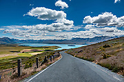 Drive this road or hike a separate trail up to Mount John Observatory, run by the University of Canterbury, at Lake Tekapo, in the Southern Alps, South Island, New Zealand.