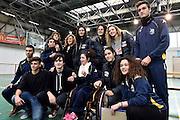 Martina Kacerik, Cecilia Zandalasini, Maddalena Gaia Gorini, Federica Tognalini<br /> Nazionale Femminile Senior in visita al Liceo Scientifico Sportivo E. Fermi di Lucca.<br /> FIP 2016<br /> Lucca, 18/11/2016<br /> Foto Ciamillo - Castoria