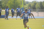 Conner runs at the Southeast Select Combine in Tupelo, Miss. on Saturday, May 25, 2013.