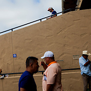 DEL MAR, CA - AUGUST 13, 2014: Spectators wait for a race to begin at the Del Mar Thoroughbred Club. CREDIT: Sam Hodgson for The New York Times