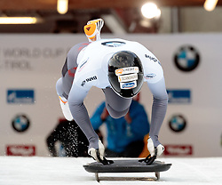 15.12.2017, Olympia Eisbahn, Igls, AUT, BMW IBSF Weltcup und EM, Igls, Sekeleton Herren, 1. Lauf, im Bild Tomass Dukurs (LAT) // Tomass Dukurs of Latvia during 1st run of men's Skeleton competition of BMW IBSF World Cup and European Championship at the Olympia Eisbahn in Igls, Austria on 2017/12/15. EXPA Pictures © 2017, PhotoCredit: EXPA/ Johann Groder