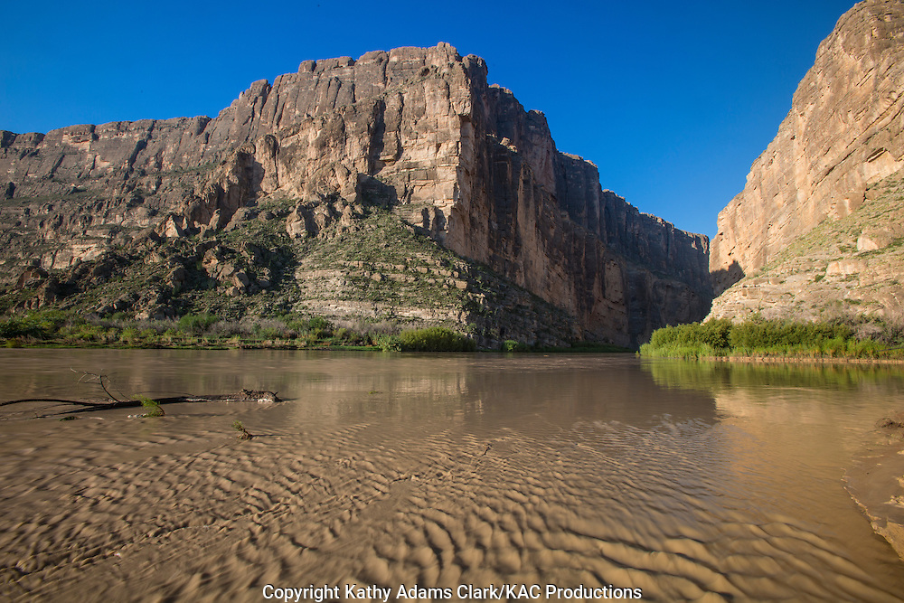 Santa Elena Canyon at Big Bend National Park, Texas.