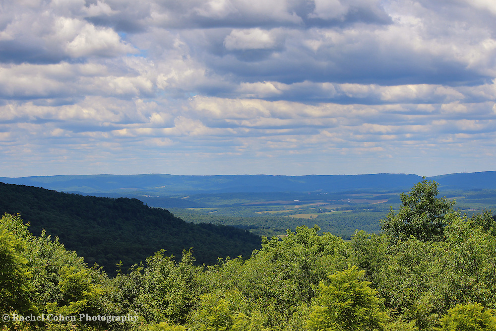 &quot;Laurel Highland Summer&quot; 2 <br /> <br /> Scenic Laurel Highlands in Ohiopyle PA.<br /> <br /> Beautiful mountains and valleys  and cloudscape on a lovely summer day!!<br /> <br /> Landscapes by Rachel Cohen