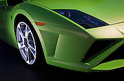Car Photography from Automotive Photographer Randy Wells, Image of a 2013 green Lamborghini Aventador sports car detail, Pacific Northwest