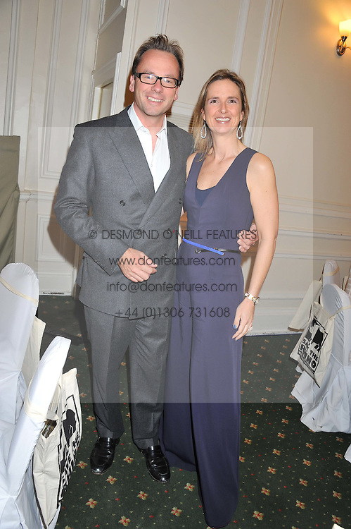 Human rights law barrister HUGO KEITH QC and his wife LOTTIE KEITH at a dinner in aid of the charity Save The Rhino held at ZSL London Zoo, Regents Park, London on 16th October 2012.