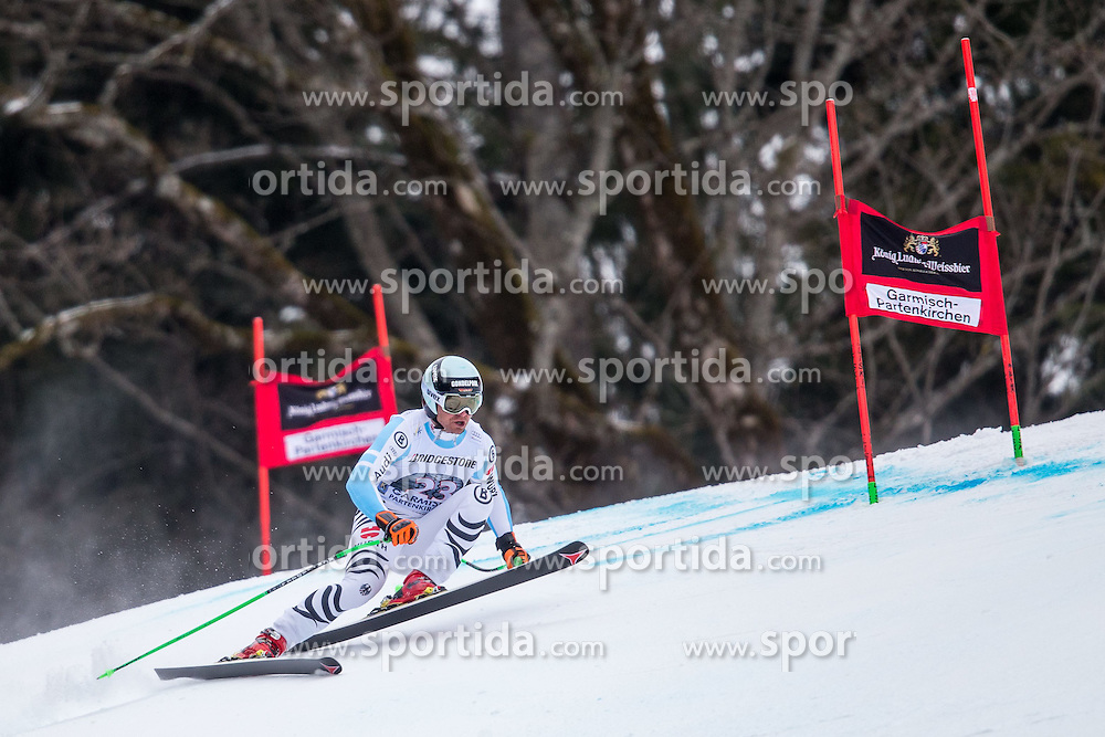 27.02.2015, Kandahar, Garmisch Partenkirchen, GER, FIS Weltcup Ski Alpin, Abfahrt, Herren, 2. Training, im Bild Andreas Sander (GER) // Andreas Sander of Germany in action during the 2nd trainings run for the men's Downhill of the FIS Ski Alpine World Cup at the Kandahar course, Garmisch Partenkirchen, Germany on 2015/27/02. EXPA Pictures © 2015, PhotoCredit: EXPA/ Johann Groder