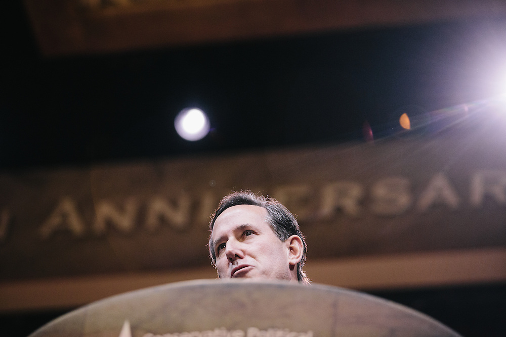 Rick Santorum speaks during day two of the Conservative Political Action Conference (CPAC) at the Gaylord National Resort & Convention Center in National Harbor, Md.