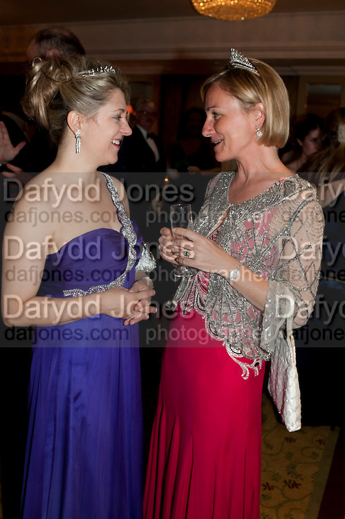 MRS. HUSTON MORRIS; SERENA PREST, The Royal Caledonian Ball 2011. In aid of the Royal Caledonian Ball Trust. Grosvenor House. London. W1. 13 May 2011.<br /> <br />  , -DO NOT ARCHIVE-© Copyright Photograph by Dafydd Jones. 248 Clapham Rd. London SW9 0PZ. Tel 0207 820 0771. www.dafjones.com.