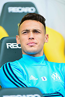 Lucas Ocampos of Marseille during the Ligue 1 match between FC Nantes and Olympique Marseille at Stade de la Beaujoire on August 12, 2017 in Nantes, . (Photo by Dave Winter/Icon Sport)