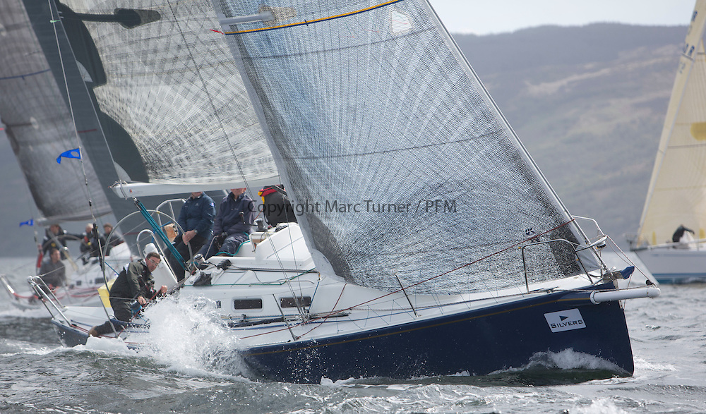 Day one of the Silvers Marine Scottish Series 2015, the largest sailing event in Scotland organised by the  Clyde Cruising Club<br /> Racing on Loch Fyne from 22rd-24th May 2015<br /> <br /> IRL29213, Something Else, Hall/McDonnell, National YC, J109<br /> <br /> <br /> Credit : Marc Turner / CCC<br /> For further information contact<br /> Iain Hurrel<br /> Mobile : 07766 116451<br /> Email : info@marine.blast.com<br /> <br /> For a full list of Silvers Marine Scottish Series sponsors visit http://www.clyde.org/scottish-series/sponsors/