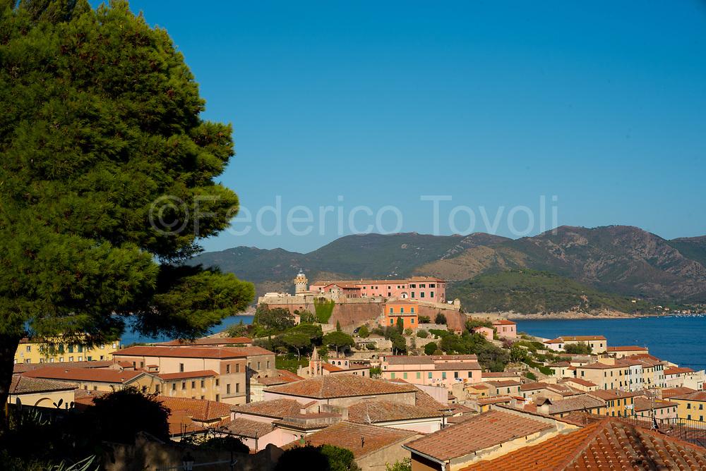 Portoferraio.  Landscape with Stella fort