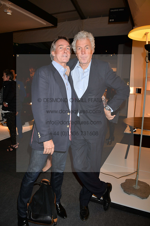 Tim Jefferies and Henry Wyndham at the 2017 PAD Collector's Preview, Berkeley Square, London, England. 02 October 2017.