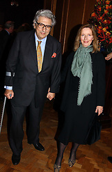 The EARL & COUNTESS OF GOWRIE at a reception hosted by Brian Ivory Chairman of the Trustees of The National Galleries of Scotland to commemorate Sir Timothy Clifford's 21 years of Director of the National Gallery of Scotland and his forthcoming retirement in January 2006, held at Christie's, King Street, London W1 on 6th December 2005.<br />