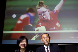 Ms Miho Yoshida and H.E. Mr Masaharu Yoshida, ambassador of Japan to Slovenia during Closing ceremony at Day 4 of 16th Slovenia Open - Thermana Lasko 2019 Table Tennis for the Disabled, on May 11, 2019, in Thermana Lasko, Lasko, Slovenia. Photo by Vid Ponikvar / Sportida