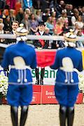 Helen Langehanenberg - Damon Hill NRW winner Reem Acra FEI World Cup Final<br /> Reem Acra FEI World Cup Final 2013<br /> © DigiShots