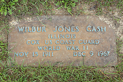 31 August 2017:   Veterans graves in Park Hill Cemetery in eastern McLean County.<br /> <br /> Wilbur Jones Cash  Illinois  Cox  US Coast Guard  World War II  Nov 15 1911  Dec 9 1967