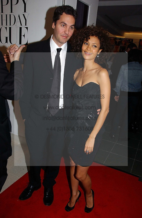 THANDIE NEWTON her husband OLIVER PARKER at a party to celebrate the 90th birthday of Vogue magazine held at The Serpentine Gallery, Kensington Gardens, London on 8th November 2006.<br />