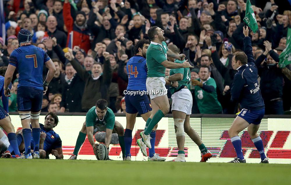 RBS 6 Nations Championship, Aviva Stadium, Dublin 14/2/2015<br /> Ireland vs France <br /> Ireland's Rob Kearney celebrates at the final whistle<br /> Mandatory Credit &copy;INPHO/Dan Sheridan