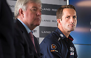Sir Keith Mills (left) and Sir Ben Ainslie during a press conference at the newly opened BAR (Ben Ainslie Racing) HQ in Portsmouth, Hampshire. The world's most successful Olympic sailor and his team will compete to win the oldest sporting trophy, The America's Cup, in Bermuda in 2017. The first stage of the contest will be held close to the base in Portsmouth next month when competing nations converge on the city for the inaugural America's Cup World Series regatta. <br /> Picture date Wednesday 24th June, 2015.<br /> Picture by Christopher Ison. Contact +447544 044177 chris@christopherison.com