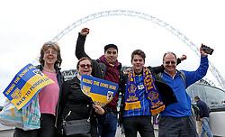 AFC Wimbledon fans arrive at Wembley - Mandatory by-line: Robbie Stephenson/JMP - 30/05/2016 - FOOTBALL - Wembley Stadium - London, England - AFC Wimbledon v Plymouth Argyle - Sky Bet League Two Play-off Final