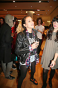 ALICE DELLAL, Uniqlo - Japanese store launch party, 311 Oxford Street, London, W1. 6 November 2007. -DO NOT ARCHIVE-© Copyright Photograph by Dafydd Jones. 248 Clapham Rd. London SW9 0PZ. Tel 0207 820 0771. www.dafjones.com.
