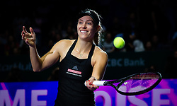 October 24, 2018 - Singapore - Angelique Kerber of Germany celebrates winning her second match at the 2018 WTA Finals tennis tournament. (Credit Image: © AFP7 via ZUMA Wire)