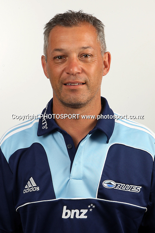 Stephen Kara. Blues Headshots, Investec Super Rugby, Auckland, 7 February 2011. Photo: William Booth/photosport.co.nz