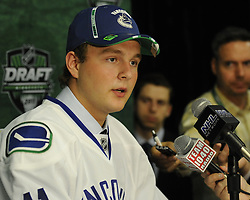 Nicklas Jensen of the Oshawa Generals was selected by the Vancouver Canucks in the 2011 NHL Entry Draft in St. Paul, MN on Friday June 24. Photo by Aaron Bell/CHL Images