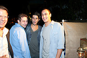 SCOTT JACOBSON; DANIEL KHALILI;ALEX DELLAL,  Jay Jopling hosts a party at Soho House. Miami Beach. Miami art Basel. 30 November 2010. -DO NOT ARCHIVE-© Copyright Photograph by Dafydd Jones. 248 Clapham Rd. London SW9 0PZ. Tel 0207 820 0771. www.dafjones.com.