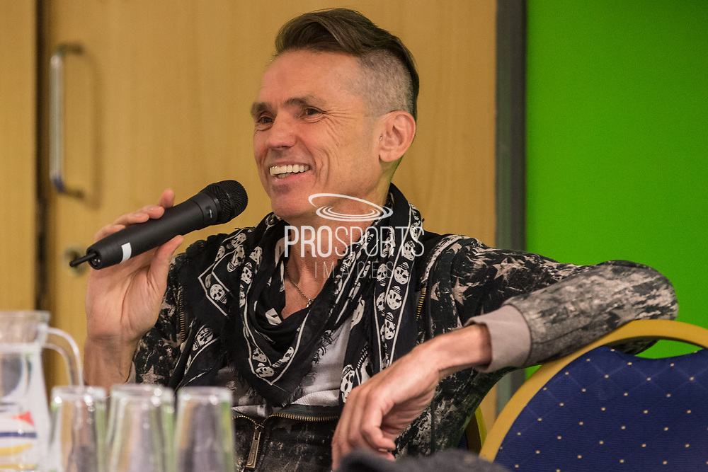 Forest Green Rovers Chairman Dale Vince during the 2018 Fans Forum for Forest Green Rovers at the New Lawn, Forest Green, United Kingdom on 30 October 2018.