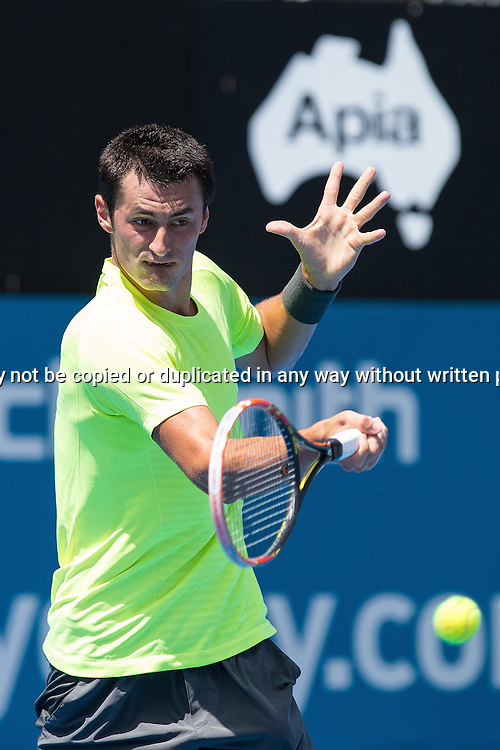 BERNARD TOMIC (AUS) during Day 3 of the 2015 Apia Sydney International played at Sydney Olympic Park Tennis Centre, Sydney, Australia, Tuesday, 13 Jan 2015. Photo: Murray Wilkinson (SMP Images).