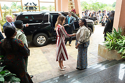 October 2, 2018 - Accra, Ghana, West Africa - First Lady Melania Trump and Rebecca Akufo-Addo, the First Lady of the Republic of Ghana meet in Accra, Ghana. (Credit Image: ? Andrea Hanks/White House via ZUMA Wire/ZUMAPRESS.com)