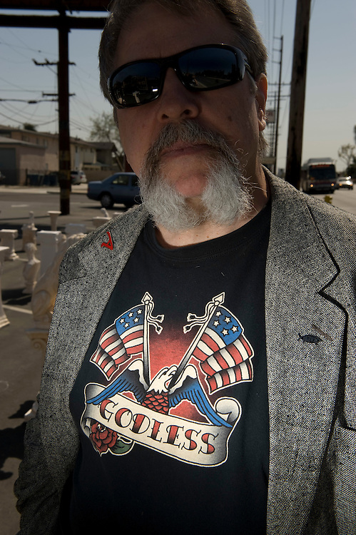 "Bruce Gleason, the ""most outted atheist"" in Orange County, and leader of Back Yard Skeptics, the group that puts up billboards making fun of religion."