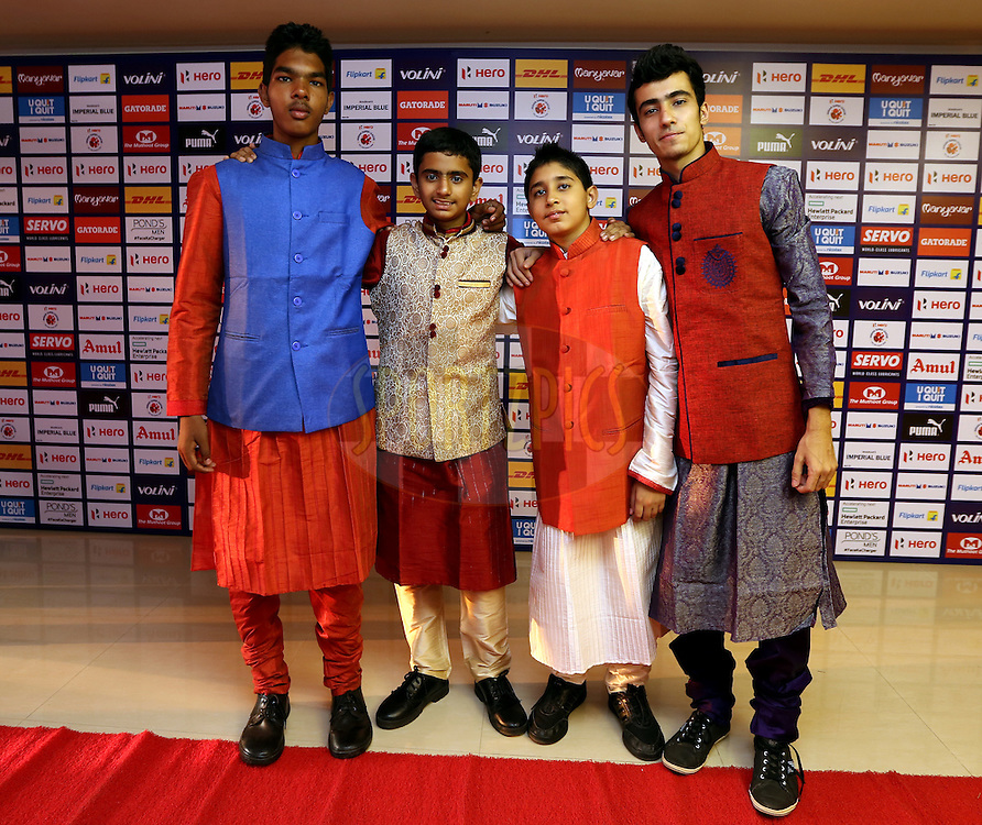 outfit during match 33 of the Indian Super League (ISL) season 2  between FC Pune City and FC Goa held at the Shree Shiv Chhatrapati Sports Complex Stadium, Pune, India on the 8th November 2015.<br /> <br /> Photo by Sandeep Shetty / ISL/ SPORTZPICS