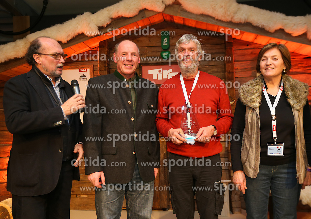 07.02.2013, Tirolberg, Schladming, AUT, FIS Weltmeisterschaften Ski Alpin, AIPS Night, im Bild Gianni Merlo (AIPS Präsident), Harti Weirather (Abfahrtsweltmeister 1982), Martin Born (SUI), Olga Scartezzini (Olympiasiegerin) // at the AIPS Night during FIS Ski World Championships 2013 at the Tirolberg, Schladming, Austria on 2013/02/07. EXPA Pictures © 2013, PhotoCredit: EXPA/ Johann Groder