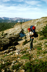 California: Backpacking the Mokelumne Wilderness.  Photo cawild102..Photo copyright Lee Foster, 510/549-2202, lee@fostertravel.com, www.fostertravel.com.