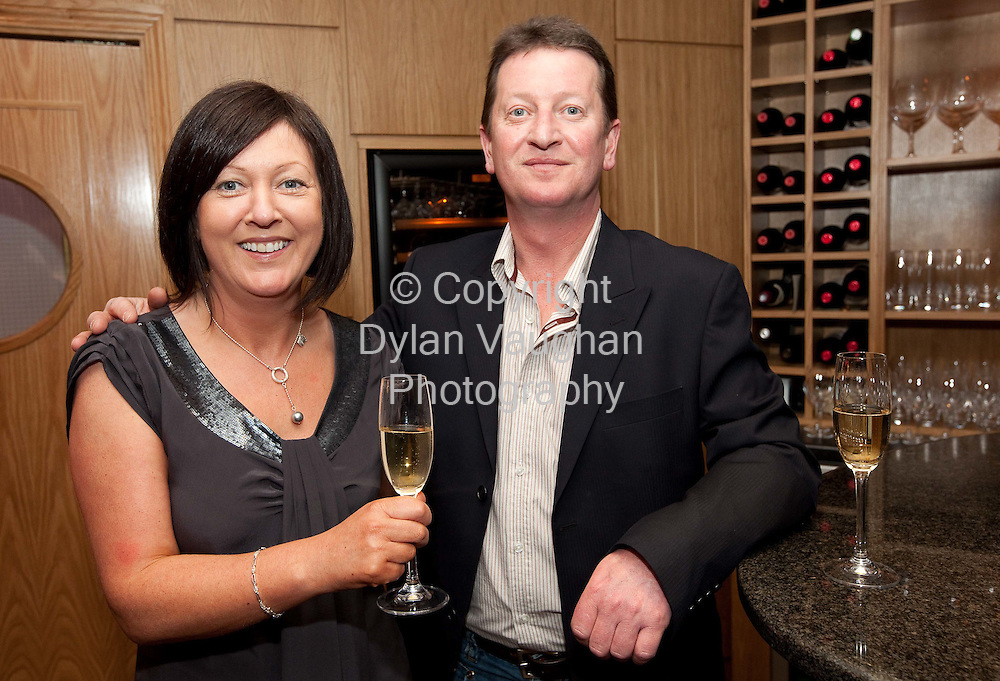 16/3/2010.Food and Wine Night at Campagne Kilkenny..Lorraine Sneyd and Frank Jeffers..Picture Dylan Vaughan.