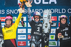 HOFMEISTER Ramona Theresia and LEDECKA Ester and  SOBOLEVA Natalia during FIS alpine snowboard world cup 2019/20 on 18th of January on Rogla Slovenia<br /> Photo by Matic Ritonja / Sportida