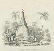 A dagoba or stupa.