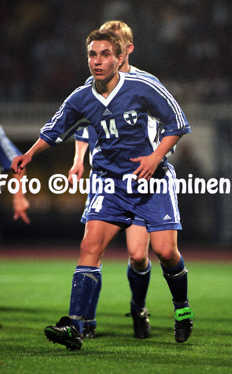13.10.1998, Besiktas Stadium, Istanbul, Turkey. Olympic / UEFA Under-21 European Championship qualifying match, Turkey v Finland.  .Fredrik Nordback (FIN U-21)..©JUHA TAMMINEN