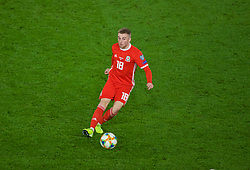 CARDIFF, WALES - Sunday, October 13, 2019: Wales' Joseff Morrell during the UEFA Euro 2020 Qualifying Group E match between Wales and Croatia at the Cardiff City Stadium. (Pic by Paul Greenwood/Propaganda)
