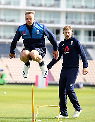 England's Tom Curran during the nets session at the Ageas Bowl, Southampton.