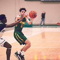 1st year forward, Nick Barnard (5) of the Regina Cougars during the Men's Basketball Home Game on Sat Feb 02 at Centre for Kinesiology,Health and Sport. Credit: Arthur Ward/Arthur Images