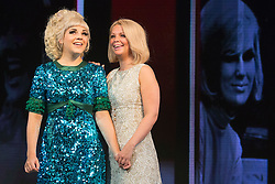 """© Licensed to London News Pictures. 01/09/2015. London, UK. L-R: Alison Arnopp (Dusty/Mary O'Brien), Francesca Jackson (Nancy Jones). Photocall for the new British musical """"DUSTY"""", a world premiere. DUSTY, is about the rise to fame of 1960s superstar Dusty Springfield. The show is currently previewing in the West End at Charing Cross Theatre. Alison Arnopp stars as Dusty Springfield/Mary O'Brien. Photo credit : Bettina Strenske/LNP"""