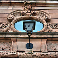 Jonas Alstr&ouml;mer Bust at Skeppsbron 8 in Stockholm, Sweden <br />