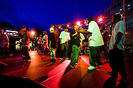 Rap group B.A.Y. performs on the UCSD campus