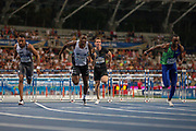Orlando Ortega, Spain, Grant Holloway, USA, Sergey Shubenkov, Authourised Neutral Athlete, Daniel Roberts, USA, Men's 110m Hurdles, during the Diamond League Meeting at Stade Charlety, Paris, France on 24 August 2019.