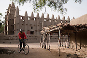 The mud mosque in Barani, northwest Burkina Faso